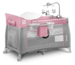 Łóżeczko turystyczne Lionelo Thomi Pink Baby