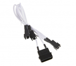 Kabel ATX/Molex Bitfenix Rozgałęźnik 3-Pin na 3x 3-Pin 7V 20cm