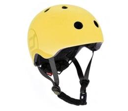 Kask i ochraniacz Scoot & Ride Kask Ochronny S-M dla dzieci 3+ Lemon