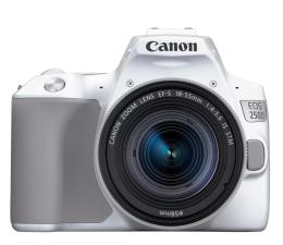 Lustrzanka Canon EOS 250D+ EF-S 18-55mm F4-5.6 biały