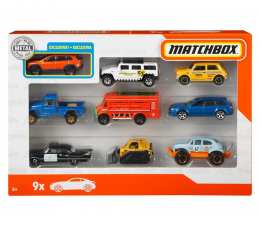 Pojazd / tor i garaż Mattel Matchbox Samochodzik 9-pak