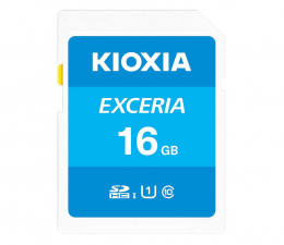 Karta pamięci SD KIOXIA 16GB SDHC Exceria 100MB/s C10 UHS-I U1