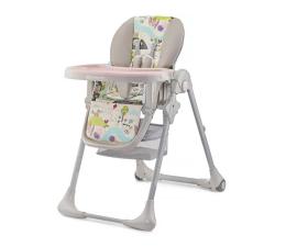 Krzesełko do karmienia Kinderkraft Tastee pink leaf