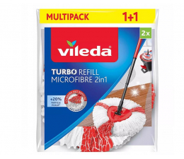 Akcesoria do sprzątania Vileda Wkład do mopa obrotowego Turbo 2w1 2szt