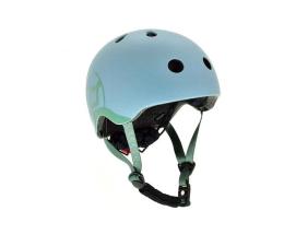 Kask i ochraniacz Scoot & Ride Kask Ochronny XXS-S dla dzieci 1-5 lat Steel