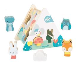 Zabawka edukacyjna Janod Trójkątny sorter kształtów Pure