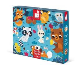 Puzzle dla dzieci Janod Puzzle sensoryczne 20 elementów  Leśne zwierzęta