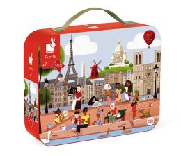 Puzzle do 500 elementów Janod Puzzle w walizce Paryż 200 elementów  7+