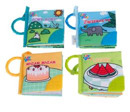Zabawka dla małych dzieci Dumel 4w1 Książeczki Gryzaczka