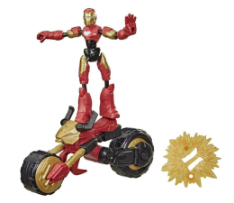 Figurka Hasbro Avengers Bend and Flex Iron Man + motocykl