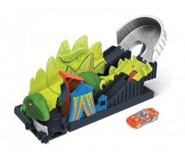 Pojazd / tor i garaż Hot Wheels Dino Coaster Zestaw z pojazdem szturmowym