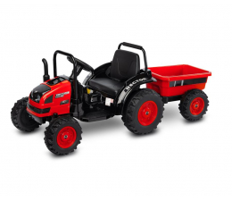 Pojazd na akumulator Toyz Traktor z przyczepą Hector Red