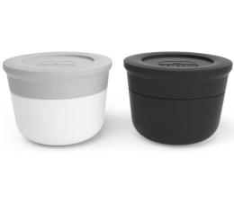 Pojemnik i przechowywanie żywności Monbento Zestaw 2 pojemników Temple S Grey Coton-Onyx