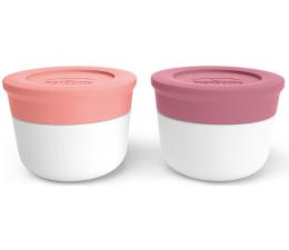 Pojemnik i przechowywanie żywności Monbento Zestaw 2 pojemników Temple S Pink Flaming-Blush