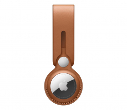 Lokalizator i akcesoria Apple Pasek skórzany do AirTag naturalny brąz