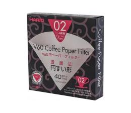 Akcesoria do ekspresów Hario Filtry papierowe do dripa V60-02 (40 sztuk)