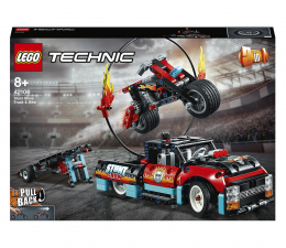 Klocki LEGO® LEGO Technic 42106 Furgonetka i motocykl kaskaderski
