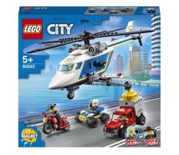 Klocki LEGO® LEGO City 60243 Pościg helikopterem policyjnym