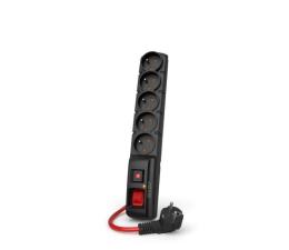 Listwa zasilająca HSK DATA Acar F5 Power 16A - 5 gniazd, 5m, czarna