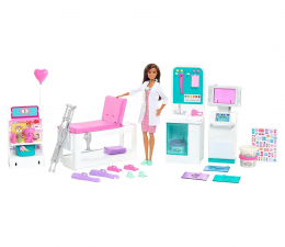 Lalka i akcesoria Barbie U lekarza - Zakładamy gips