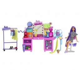 Lalka i akcesoria Barbie Extra Toaletka Zestaw + lalka