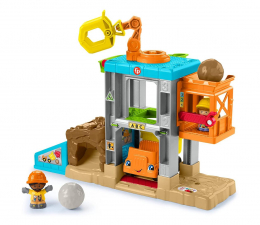 Zabawka dla małych dzieci Fisher-Price Little People plac budowy zestaw z dźwiękiem