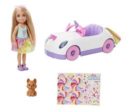 Lalka i akcesoria Barbie Chelsea Tęczowy Zestaw autko + lalka