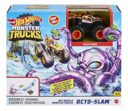 Pojazd / tor i garaż Hot Wheels Trucks Octo-Slam
