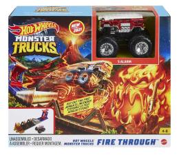 Pojazd / tor i garaż Hot Wheels Monster Trucks Fire Through