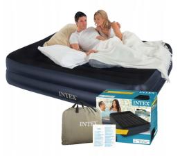 Materac do spania INTEX Dmuchane łóżko z wbudowaną pompką elektryczną