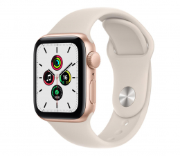 Smartwatch Apple Watch SE 40/Gold Aluminium/Starlight Sport GPS