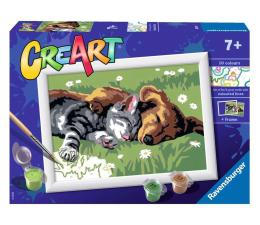 Zabawka plastyczna / kreatywna Ravensburger CreArt dla dzieci: Śpiący kotek z pieskiem