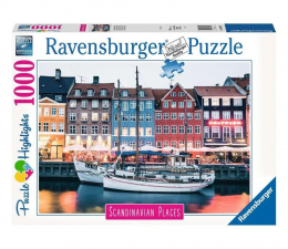Puzzle 1000 - 1500 elementów Ravensburger Skandynawskie miasto 1000 el.