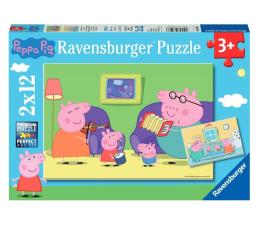Puzzle dla dzieci Ravensburger Świnka Peppa 2x12 el.