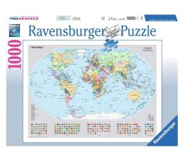 Puzzle 1000 - 1500 elementów Ravensburger Polityczna mapa świata 1000 el.