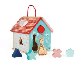 Zabawka drewniana Janod Sorter Kształtów Domek Żyrafka Sophie