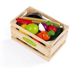 Zabawka drewniana Janod Drewniana skrzynka z warzywami i owocami do krojenia