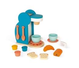 Zabawka drewniana Janod Drewniany zestaw śniadaniowy z ekspresem do kawy