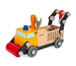 Zabawka drewniana Janod Drewniana ciężarówka budowlana do składania z narzędziami