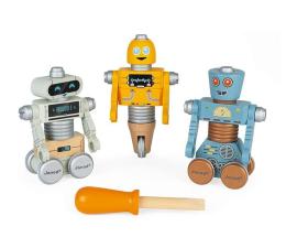 Zabawka drewniana Janod Drewniane roboty do składania ze śrubokrętem