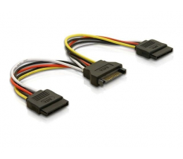 Kabel SATA Delock Adapter SATA - 2x SATA 15cm