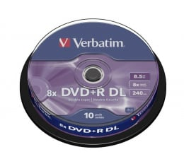 Płyta DVD+R Verbatim 8.5GB 8x Double Layer CAKE 10szt.