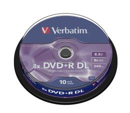 Płyta DVD+R Verbatim 8.5GB 8x Double Layer CAKE 10szt.