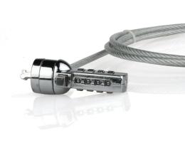 Linka zabezpieczająca Natec Stalowa linka w osłonie 1,8m (na szyfr 4-cyfrowy)