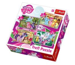 Puzzle dla dzieci Trefl 4w1 MLP Wakacje kucyków