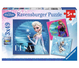 Puzzle dla dzieci Ravensburger Puzzle 3x49 Elsa, Anna i Olaf
