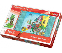 Puzzle dla dzieci Trefl Mapa Europy