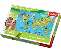 Puzzle dla dzieci Trefl Edukacyjne Mapa Świata