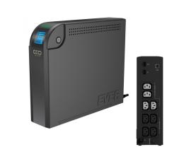 Zasilacz awaryjny (UPS) Ever ECO 1000 LCD (1000VA/600W, 8xIEC, RJ-45, USB, LCD)