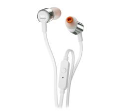 Słuchawki przewodowe JBL T210 Biało-srebrne